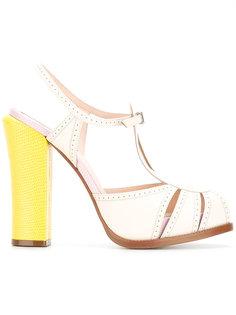 босоножки на каблуке-столбик Fendi