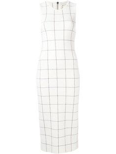 платье в клетку без рукавов Victoria Beckham