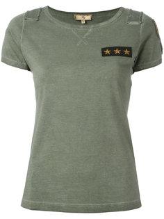 футболка с заплаткой со звездами Fay