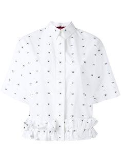 рубашка с принтом ласточек McQ Alexander McQueen