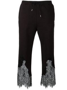 укороченные брюки с кружевом McQ Alexander McQueen