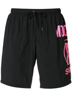шорты для плавания с принтом фламинго Moschino