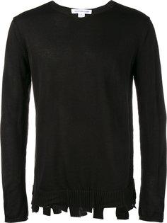 свитер с потертой отделкой Comme Des Garçons Shirt