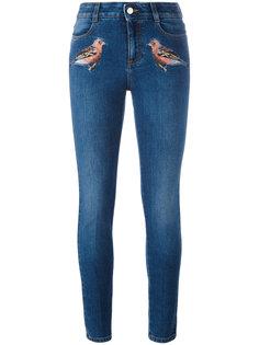 джинсы скинни с вышивкой Stella McCartney
