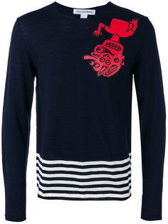 striped detail jumper Comme Des Garçons Shirt
