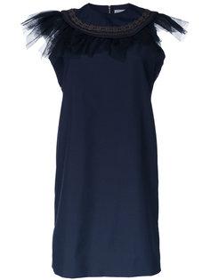 платье с оборками на горловине Kolor
