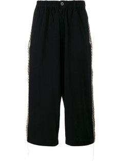 укороченные широкие брюки Yohji Yamamoto