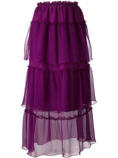 layered sheer midi skirt Sonia Rykiel