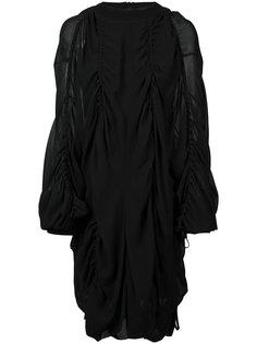 платье с драпировкой Vera Wang