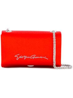 сумка на плечо с принтом-логотипом Giorgio Armani