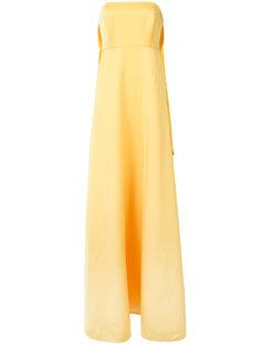 длинное платье без бретелек Tegan Zac Zac Posen