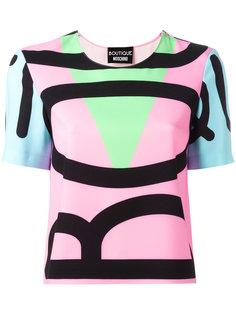 футболка дизайна колор-блок Boutique Moschino