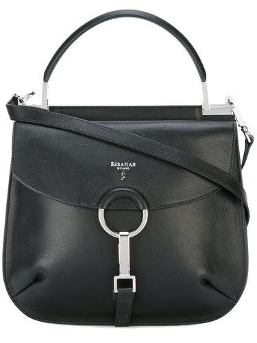 сумка на плечо с логотипом Serapian