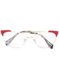 очки в оправе формы кошачий глаз Miu Miu Eyewear
