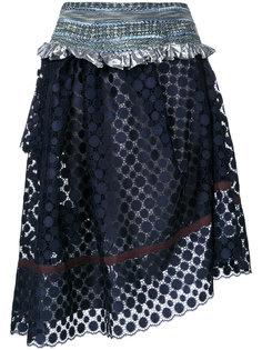 асимметричная юбка с узором в горох Kolor