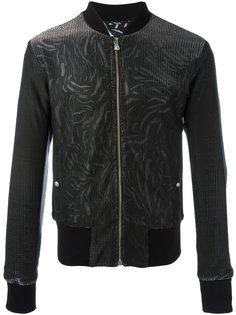 куртка-бомбер с абстрактным принтом Versus