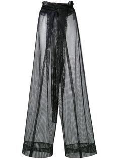 сетчатые расклешенные брюки Demoo Parkchoonmoo