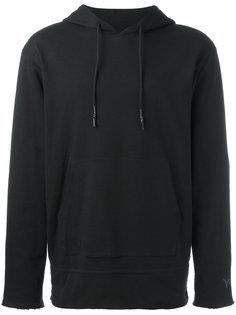 raw edge drawstring hoodie Y-3