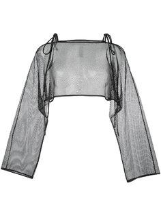 сетчатая блузка с завязками Demoo Parkchoonmoo