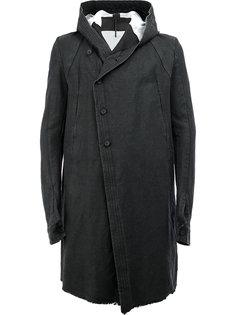 пальто с капюшоном и смещенной застежкой Masnada
