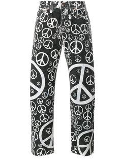 джинсы с принтом Peace Levis Vintage Clothing