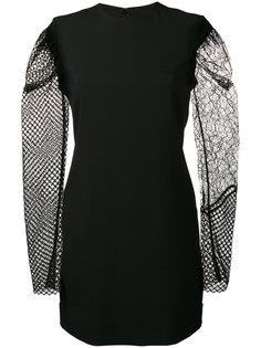 мини-платье с контрастными рукавами Saint Laurent