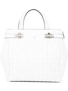 сумка-тоут с фактурной поверхностью Serapian