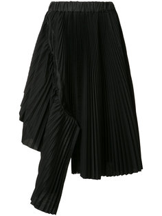 драпированная юбка асимметричного кроя Sacai