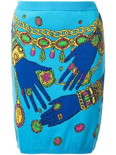 облегающая юбка с принтом рук Moschino