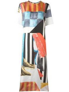 платье миди с геометрическим принтом Joseph