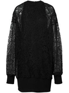 платье-толстовка с кружевной вставкой Vera Wang