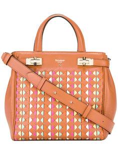 сумка-тоут с принтом логотипа Serapian