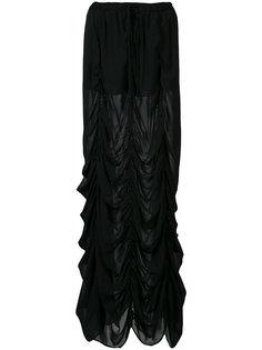 длинная юбка с драпировкой Vera Wang