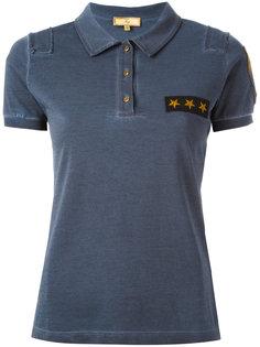 футболка-поло с заплаткой со звездами Fay