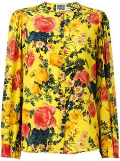 блузка с цветочным принтом Fausto Puglisi