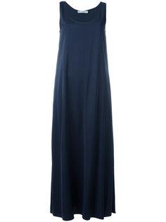 длинное драпированное платье  Vince