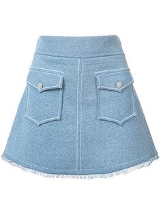 юбка с передними карманами Derek Lam 10 Crosby