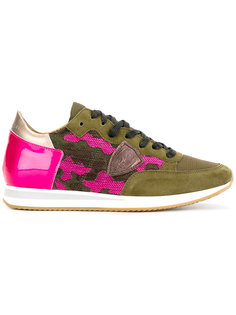 кроссовки с камуфляжной отделкой Philippe Model