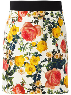 мини-юбка с цветочным принтом Fausto Puglisi