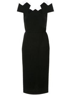 платье-футляр с вырезными деталями Roland Mouret