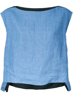 блузка дизайна колор-блок Demoo Parkchoonmoo