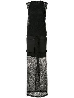 длинное платье с накладными карманами Vera Wang