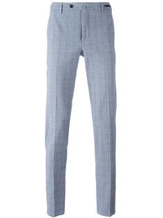 зауженные брюки в клетку Pt01