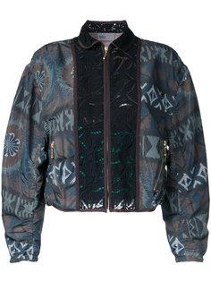 куртка-бомбер с сплошным узором Kolor