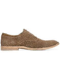плетеные ботинки Дерби Officine Creative
