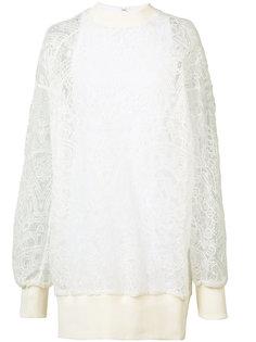 платье-свитер с кружевной вставкой Vera Wang