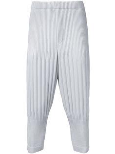 укороченные плиссированные брюки Homme Plissé Issey Miyake