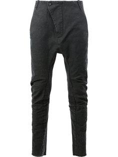 узкие брюки с заниженным шаговым швом Masnada
