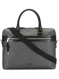 logo pattern briefcase Dior Homme