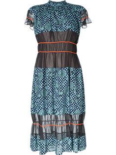 прозрачное расклешенное платье  Kolor